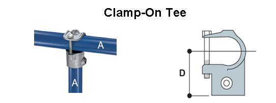 Clamp-On Tee