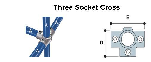 Three Socket Cross