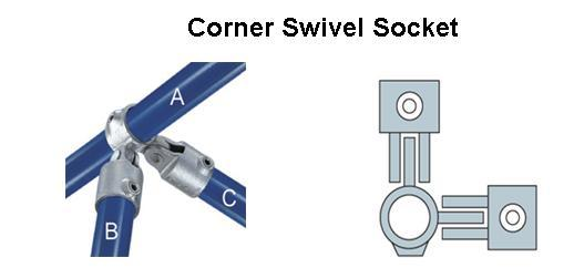 Corner Swivel Socket